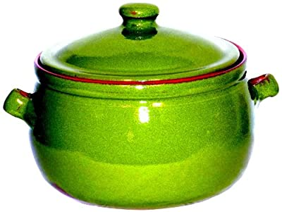 Amazing Cookware 3 Litre Pearlescent Terracotta Stew Pot Green by Amazing Cookware