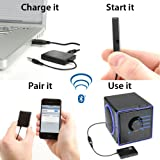 GOgroove BlueGate Bluetooth Adapter Wireless Receiver with A2DP Technology for Home Stereo , Portable Speakers , Headphones , Car Music Sound Systems , & More 3.5mm Media Devices - Works with iPhone 5S , Samsung Galaxy S5 Prime , Note 3
