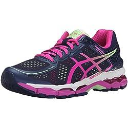 ASICS Women's Gel Kayano 22 Running Shoe, Indigo Blue/Pink Glow/Pistachio, 8.5 M US