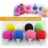 Portable Speakers iPhone 3.5mm ball 3.5mm Sponge Balloon Ball Mini Speaker Cute Mini Player for iPhone Samsung HTC iPad MP3 (Green)