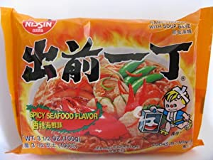 Nissin Demae Ramen, Spicy Seafood, 3.5 oz (30 packs) by Nissin Foods