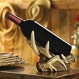 Rustic Antlers Wine Bottle Holder