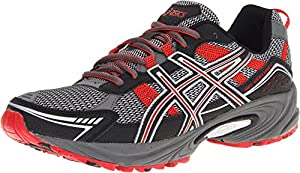 ASICS Men's GEL-Venture 4 Running Shoe,Charcoal/Black/Red,8.5 M US