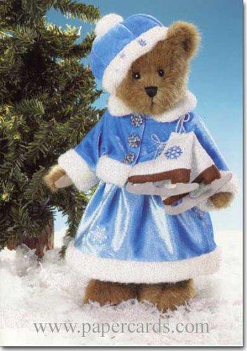 Boyd's Bear Ice Skater ~ 16 Cards & 16 Envelopes