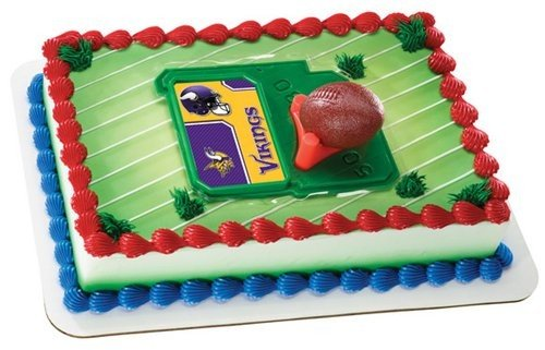 NFL Minnesota Vikings Football Tee Cake Topper Set