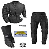 Avalanche - Motorrad-Thermo-Kombi - Jacke & Hose - Wasserdicht - CE-Protektoren - 2XL