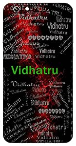 Vidhatru (Lord Shiva) Name & Sign Printed All over customize & Personalized!! Protective back cover for your Smart Phone : Moto G-4