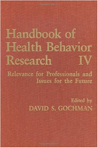 Handbook of Health Behavior Research IV: Relevance for Professionals and Issues for the Future (364)