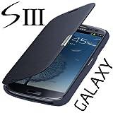 Flip Tasche Samsung Galaxy S3 Neo Gt- i9301i i9301 Schutz Hülle Case Cover Dunkel Blau + Gratis Displayschutzfolie!!!!!!