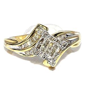 0.5ct Princess Cut Diamond Engagement Ring 14K Yellow Gold