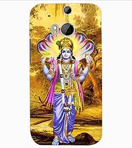 ColourCraft Lord Vishnu Design Back Case Cover for HTC ONE M8