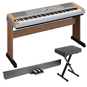 Yamaha DGX640C Digital Piano, Cherry + Matching Stand, Yamaha LP7A 3 Pedal Unit and Keyboard Bench