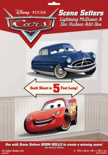 Cars Mcqueen And Doc 65In Scene Setter Add-Ons 2Ct