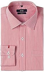 Basics Men's Formal Shirt (8907054465378_14BFS31165_Red_44)