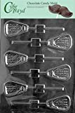 Cybrtrayd S099 Lacrosse Lolly Chocolate Candy Mold with Exclusive Cybrtrayd Copyrighted Chocolate Molding Instructions