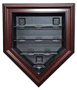 MLB Caseworks 9 Baseball Home Plate Display, Mahogany