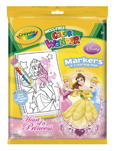 Color Wonder:Disney Princess Enchanted Coloring Book and Markers (Style May Very)