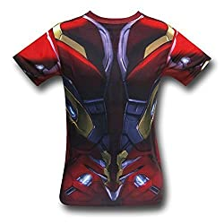 Iron Man Civil War Sublimated Costume T-Shirt- Large