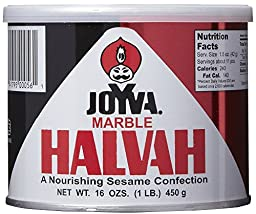 Joyva Marble Halvah, 16-Ounce Can (Pack of 6)