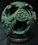 "Unique Corporate Business Gift Woman / Man - 6"" Jade Six Layer Dragon Puzzle Ball Paper Weight"