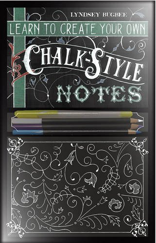 Learn to Create Your Own Chalk Style Notes: Includes White Gel Pens, Chalk Pencils, Black Paper Note Cards and  Postcards and an 32 page Instruction Book PDF
