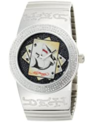 Ed Hardy Men's CS-SS Card Shark Stainless Steel Watch