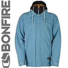 Buy Bonfire Morris Jacket (Winter Blue) Mens Snowboard Jacket by Bonfire
