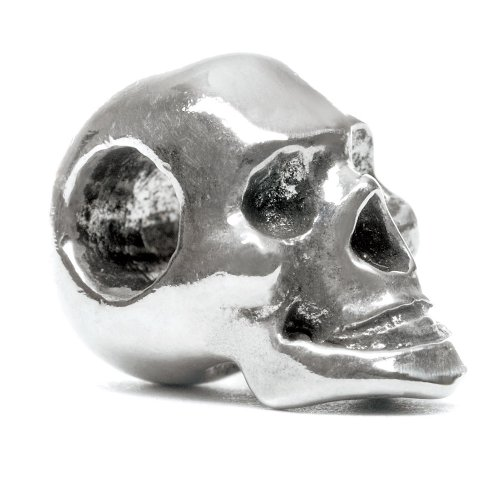 Authentic Novobeads Sterling Silver 1519 Skull, Silver