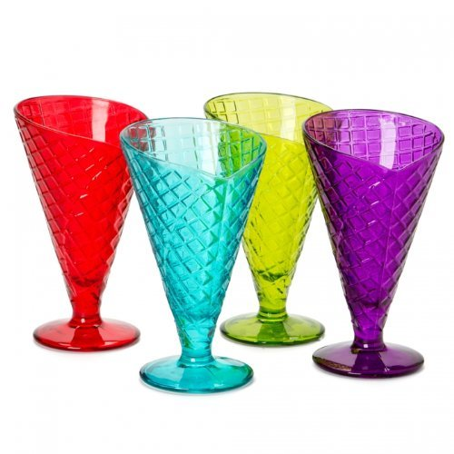 BORMIOLI - Lot de 4 coupes à glace 28 cl coloris assortis - Gelato