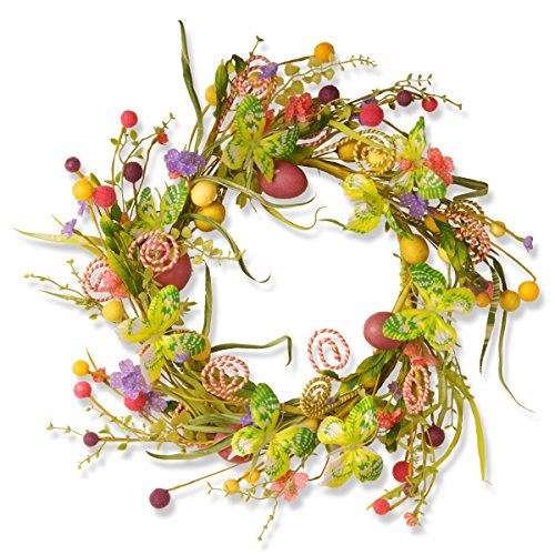 Easter Wreath with Candy Eggs