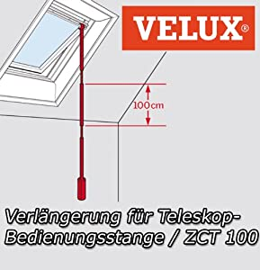 Velux zct 100 skylight 3 ft extension for control rods for Velux skylight control rod