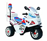 MassG® Ride on car with parental Remote Control Police Electric Ride On 3 Wheeled Motorcycle