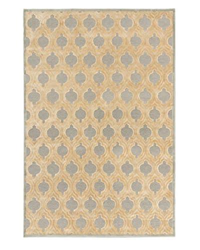 Oak Rugs Silko Legacy Rug, Beige/Light Gray, 3' 11 x 5' 3