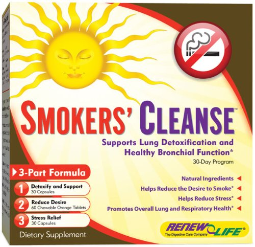 Smokers' Cleanse, 30 Day Programme, 3 Bottles