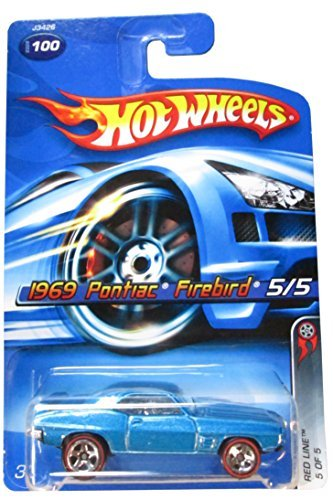 Red Line Series #5 1969 Pontiac Firebird Blue #2006-100 Collectible Collector Car Mattel Hot Wheels 1:64 Scale - 1