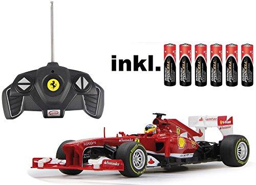 RC-Ferrari-F1-118-Rennwagen-ferngesteuert-Version-2013-inkl-Batterien-LIZENZ-Nachbau