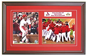 St. Louis Cardinals Game Six, 2011 World Series Walk Off Home Run Framed Photo and Logo Collage