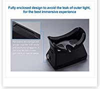 Ctronics® Riem II Google Cardboard Head Mount Plastic Version Virtual Reality Magnet VR Mobile Phone IMAX 3D Glasses 3D Movies Games with Aspherical Resin Lens for 3.5 to 6 inch Smartphone by Ctronics