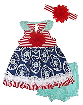 Amazon Peaches n Cream Baby Girls Infant Red Navy