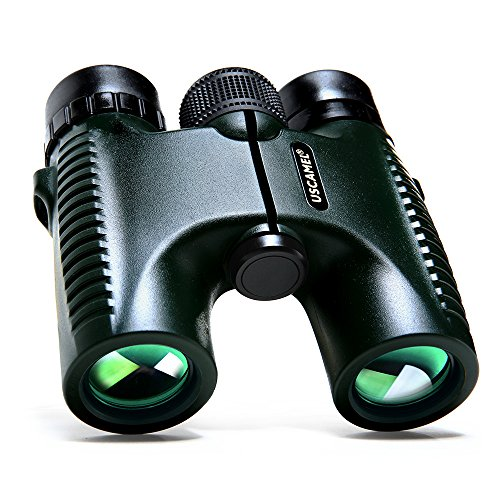 USCAMEL HD 10x26 Binoculars Powerful Long Range 1000m Professional Folding Telescope Wide Angle Vision Hunting Military Green