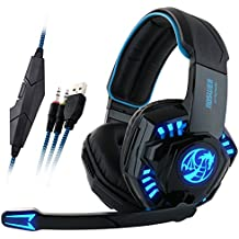 [2016 New Version] TIRIN PlayStation 4 PS4 I8 Comfortable LED 3.5mm Stereo Gaming LED Lighting Over-Ear Headphone...
