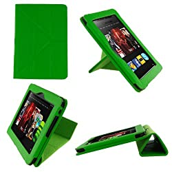 rooCASE Origami Dual-View (Green) Vegan Leather Folio Case Cover for Amazon Kindle HD 8.9 Inch Tablet - Support Landscape / Portrait / Typing Stand - Support Landscape / Portrait / Typing Stand / Auto Sleep and Wake (NOT Compatible with Fire HD 7-Inch)