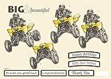 "One A4 Sheet ""No Scissors Required"" 3D Decoupage Big & Beautiful Quad Off Road Bike 572"