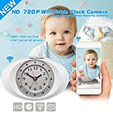 Hidden Camera w/Alarm Clock and IP wifi access online. Use as a baby monitor, with 2 way communication or use as a spy camera with 11 auto IR lights. Save video to cell phone. By Online-Enterprises
