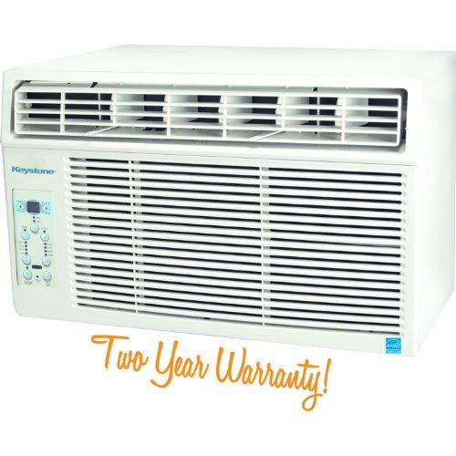 Keystone KSTAW12A Energy Star 12,000 BTU 115 Volt Window Mounted Air Conditioner with Follow Me LCD Remote Control