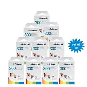 10 x 10er Pack Polaroid Instant Film PIF-300 Sofortbildfilm für die 300 Sofortbildkamera