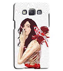 Blue Throat Girl Smoking Hard Plastic Printed Back Cover/Case For Samsung Galaxy A5