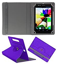 Acm Designer Rotating Case For Nxi Fabfone Smart 3g Stand Cover Purple