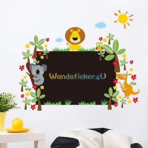 wandsticker4u tafelfolie und wanddeko 2 in1 effektbild 75x90 cm mit dschungel motiv. Black Bedroom Furniture Sets. Home Design Ideas