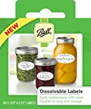 Ball Dissolvable Labels - (Set Of 60) (by Jarden Home Brands) (2 Pack - 120 Labels)